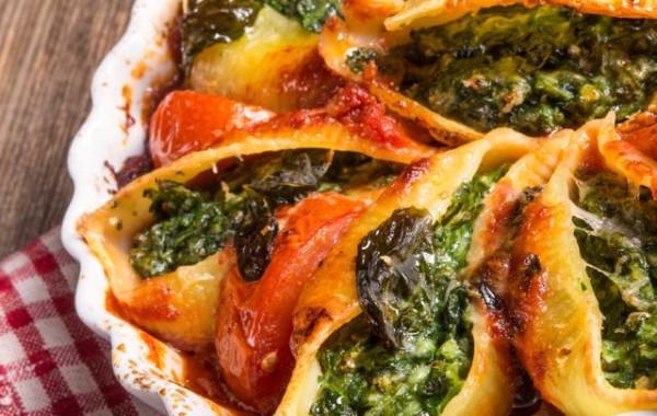 Spinach, Mushroom & Ricotta Stuffed Shells