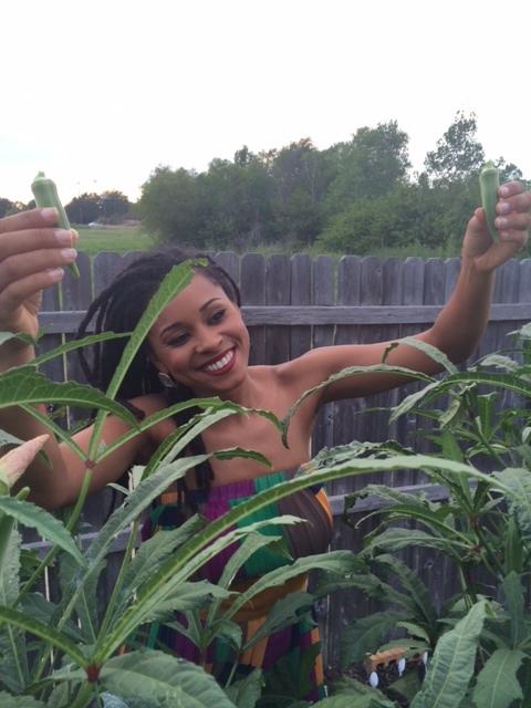 Kelli - holding okra